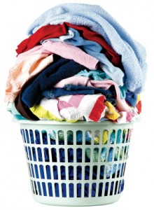 Image of a laundry basket overflowing with washing