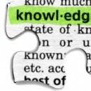 Image of a jigsaw piece emphasising the word Knowledge